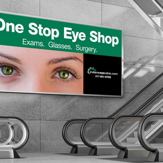 Coles Marketing BillBoard Work - Indiana Eye Clinic
